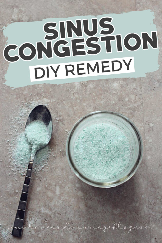 This DIY is super easy and so helpful for sinus headache relief. Sinus congestion is frustrating but this is so helpful. #Healthy #DIY