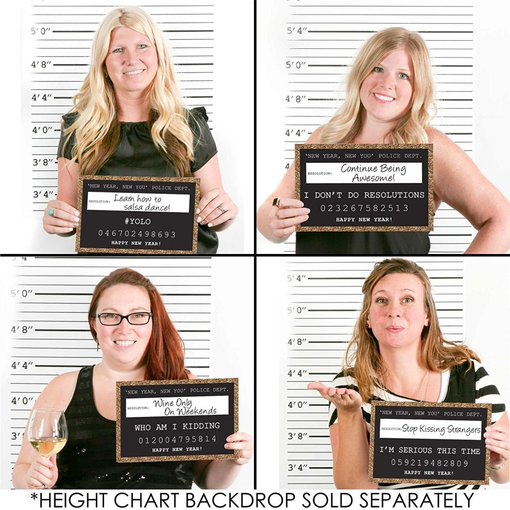 NYE Photo Props mug shots