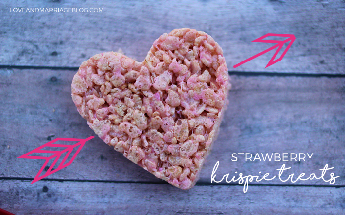 Strawberry Rice Krispie Treat