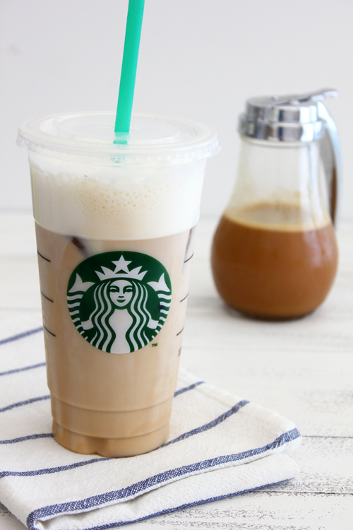 Iced Caramel Latte Starbucks Copy Cat