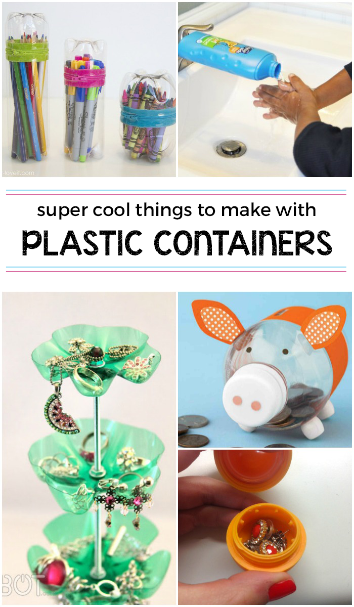 15 Wildly Cool Things To Make from Plastic Containers