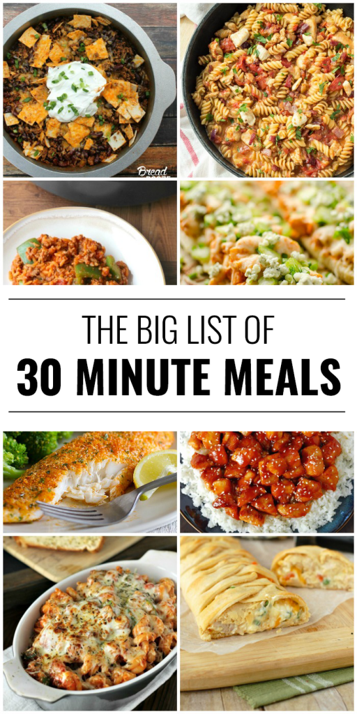 20 Recipes On The Table In 30 Minutes or Less