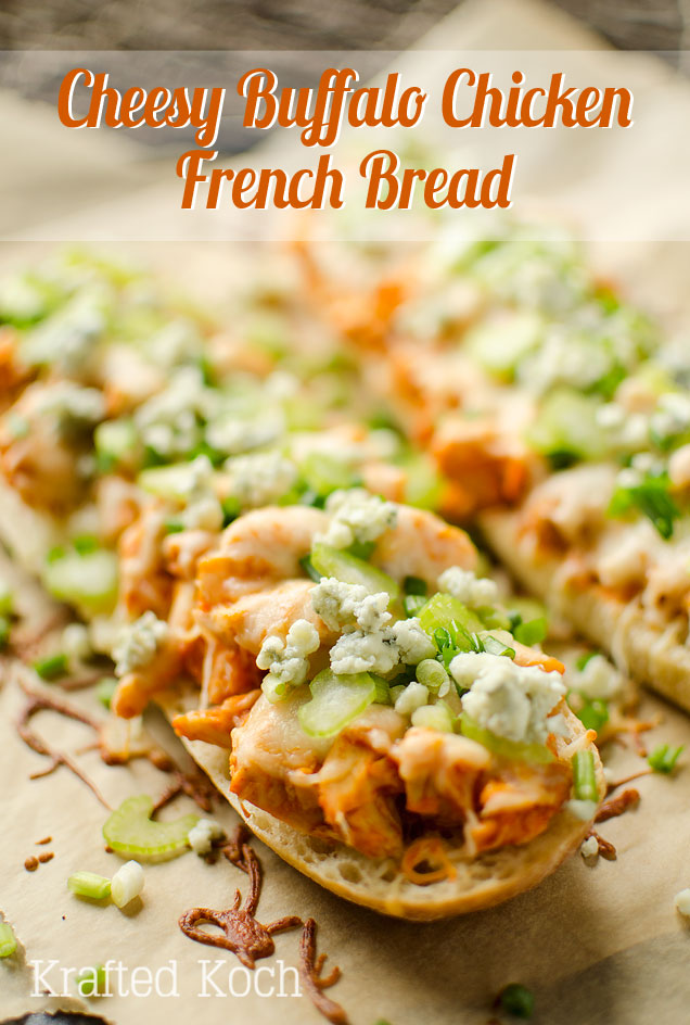 Cheesy Buffalo Chicken French Bread