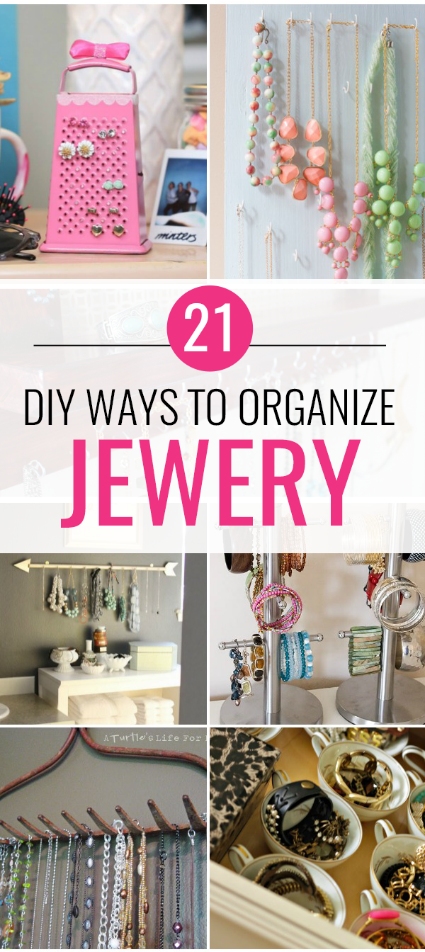 21 DIY Jewelry Organization Ideas