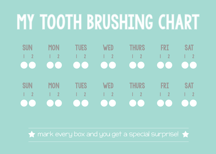 photo relating to Printable Tooth Brushing Charts called Teeth Brushing Incentive Chart - Appreciate and Romance