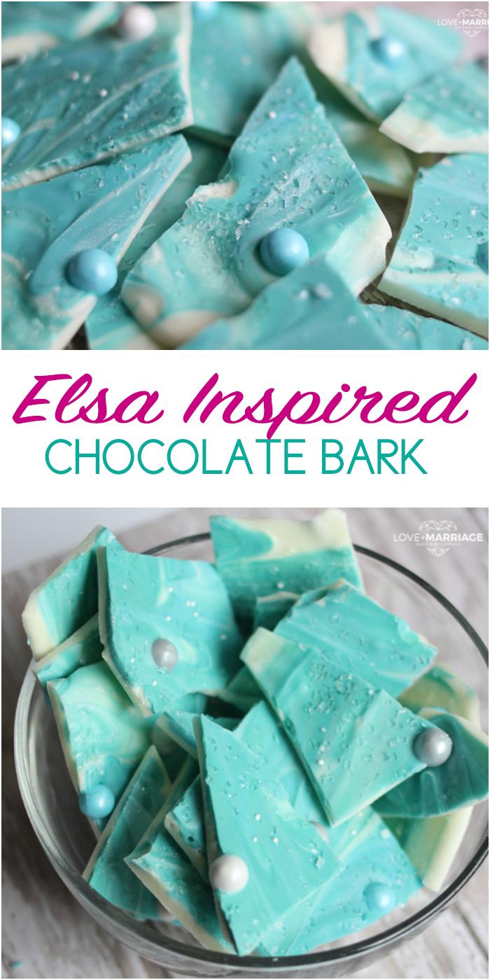 Frozen Elsa Chocolate Bark