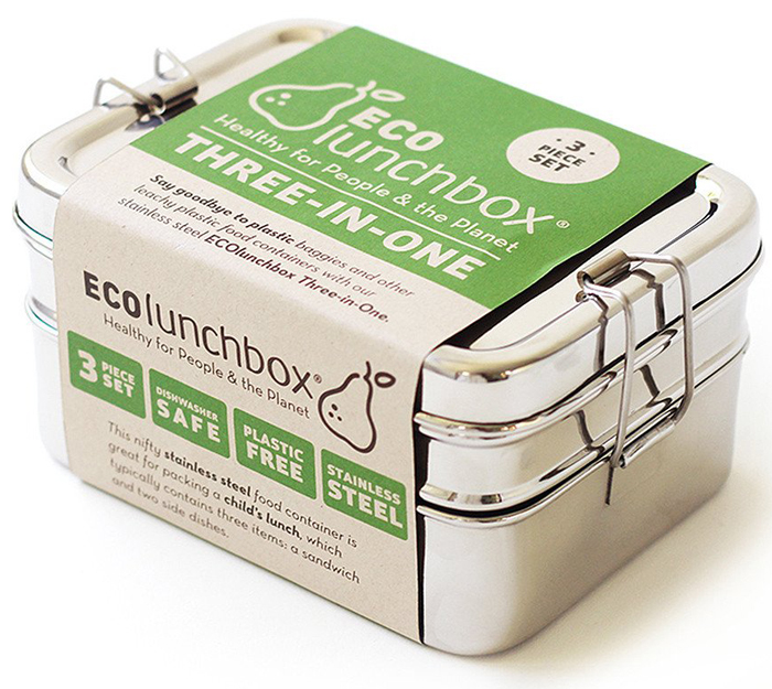 Stainless Steel 3-in-1 Lunch Containers // Eco Lunch Box
