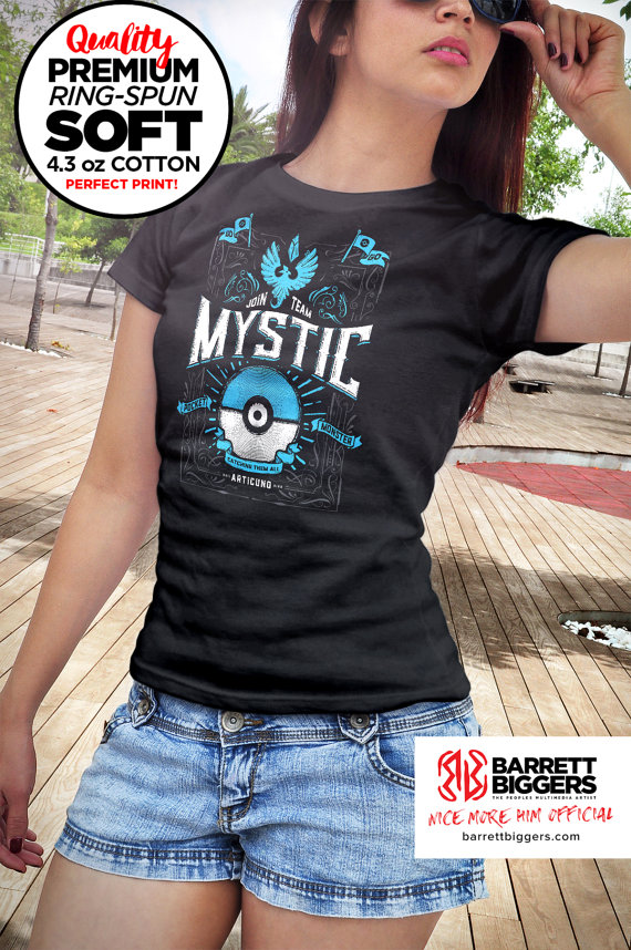 Team Mystic Pokemon Go T-Shirt