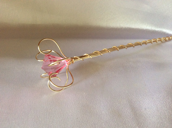 What a beautiful princess wand! It's perfect for Princess Halloween costumes!