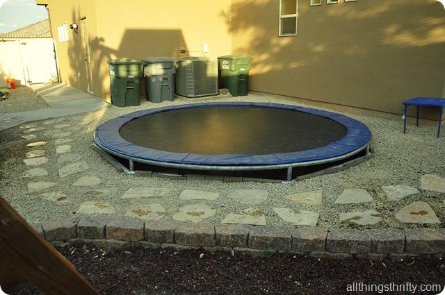 in ground trampoline | kid yard ideas