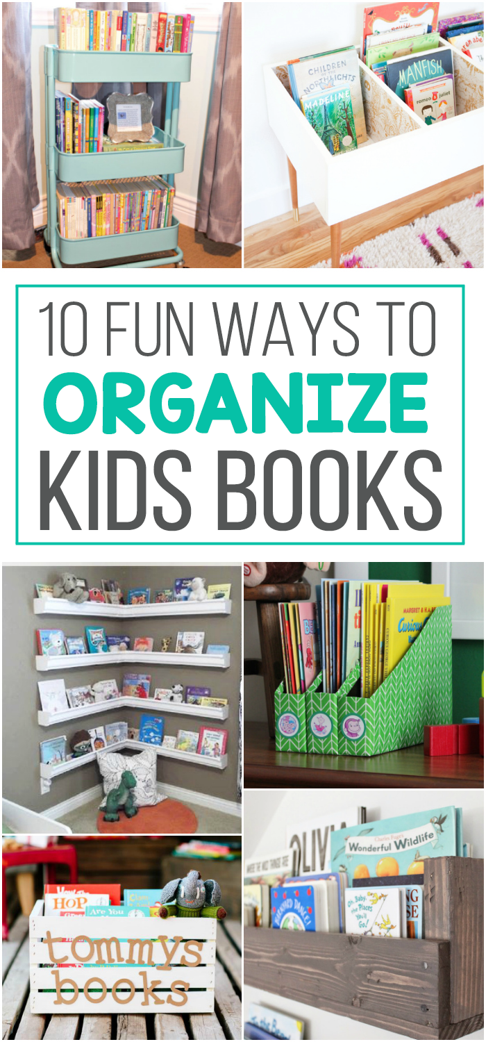 10 Fun Ways To Store Kid Books