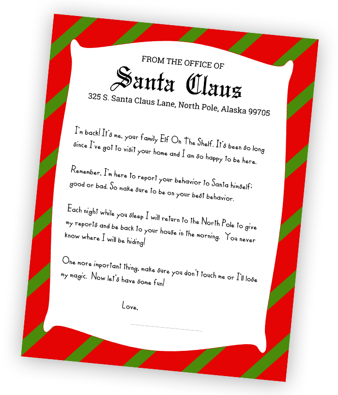 photograph regarding Printable Elf on the Shelf Goodbye Letter identify The Epic Elf Upon The Shelf Printables Package for Magical Elf