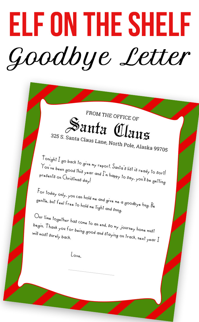 Elf on the shelf printable kit love and marriage for Goodbye letter from elf on the shelf template