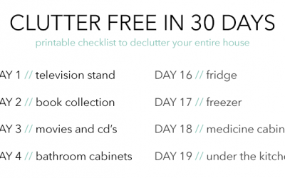 Declutter Your Entire House in 30 Days