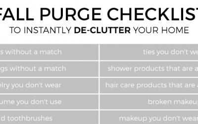Fall Purge Checklist