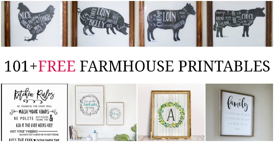 photo about Printable Farmhouse Signs referred to as 101+ Fixer Higher Motivated Free of charge Farmhouse Printables - Enjoy