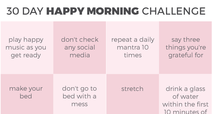 30 Day Happy Morning Challenge