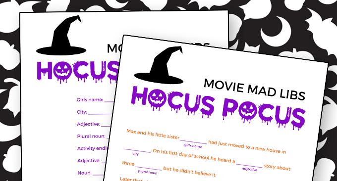 Hocus Pocus Mad Libs