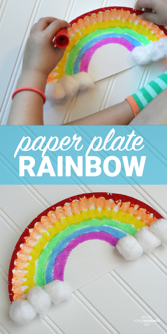 This Paper Plate Rainbow Is An Incredibly Easy And Fun Craft For Kids You Just Need A Few Things From The House Probably Already Have My One Super