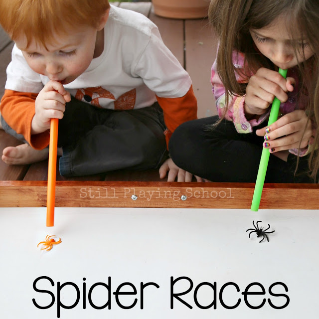 Spider Races - Halloween Minute To Win It