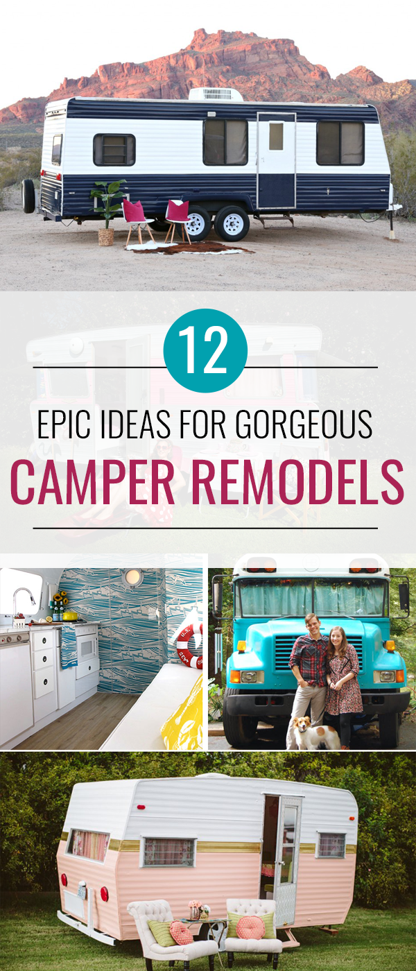 These Camper Remodel ideas are absolutely incredible! Check out the before and afters and get inspiration for your own DIY camper upgrades.