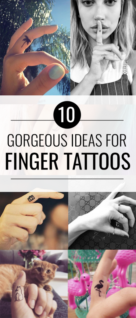 10 Inspiring Tiny Finger Tattoos