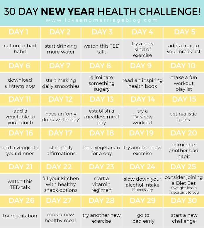 30 Day New Year Health Challenge - Love and Marriage