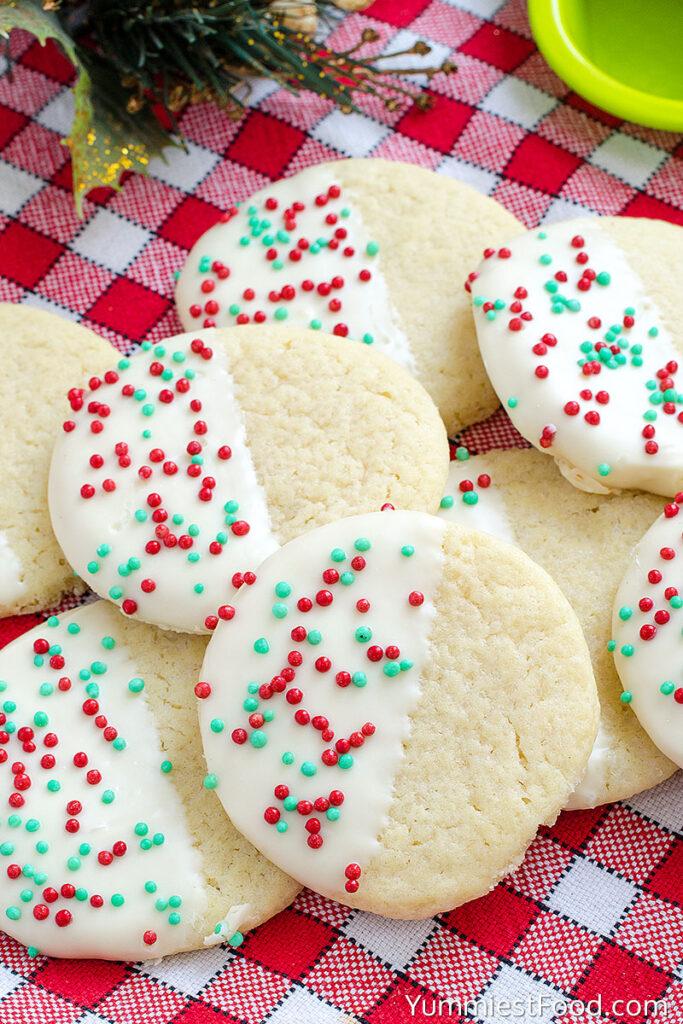 White Chocolate Dipped Sugar Cookies