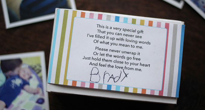 Sweet Printable Poem Gift for Parents