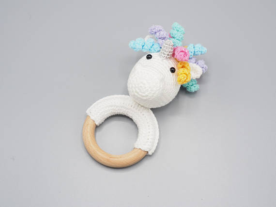Unicorn Crochet Rattle for Babies