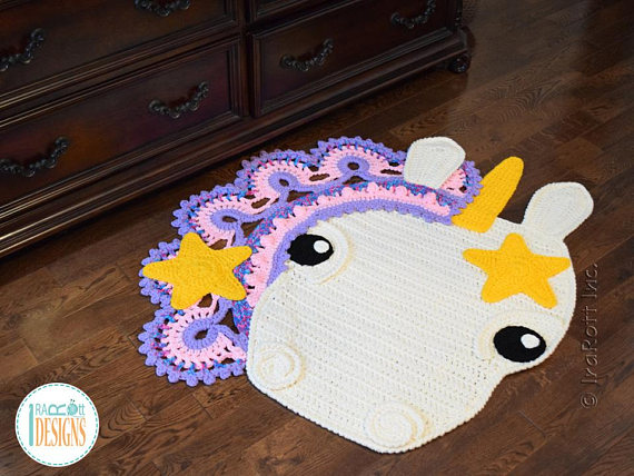 Starry The Unicorn Rug Crochet