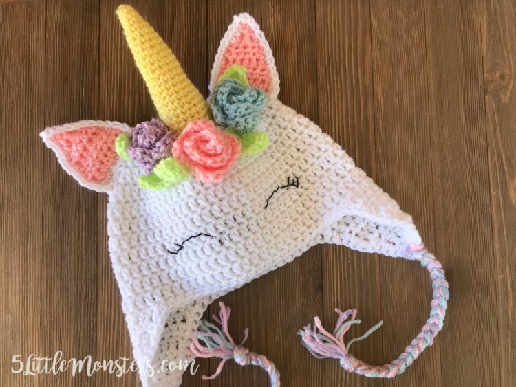 Free Crochet Pattern Unicorn Hat