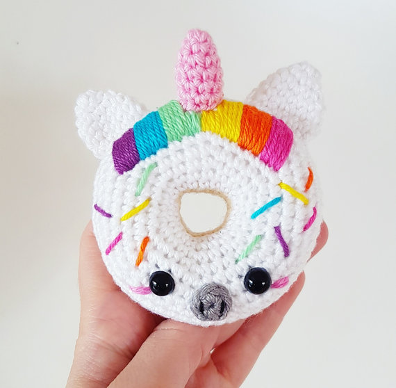 Unicorn Donut Crochet Pattern