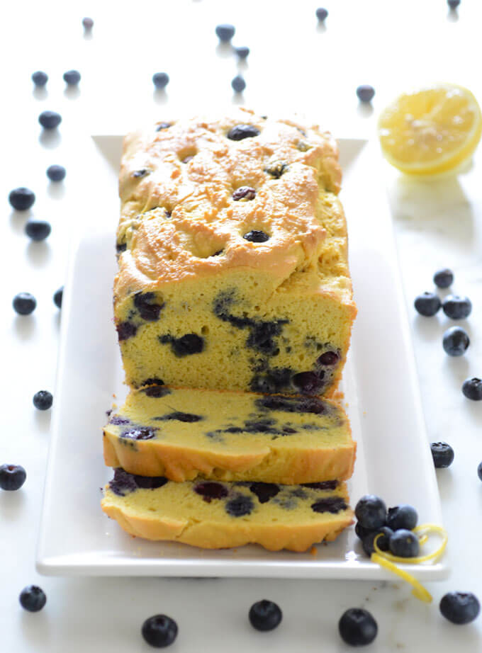 Keto Blueberry Lemon Bread Dessert recipe