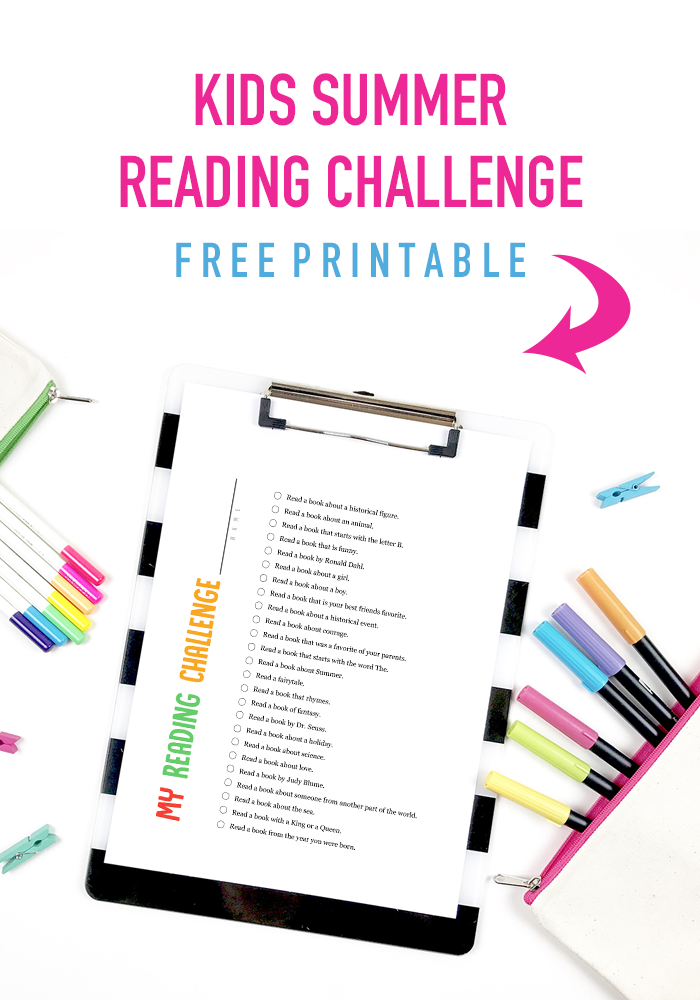 A Fun Summer Kids Reading Challenge