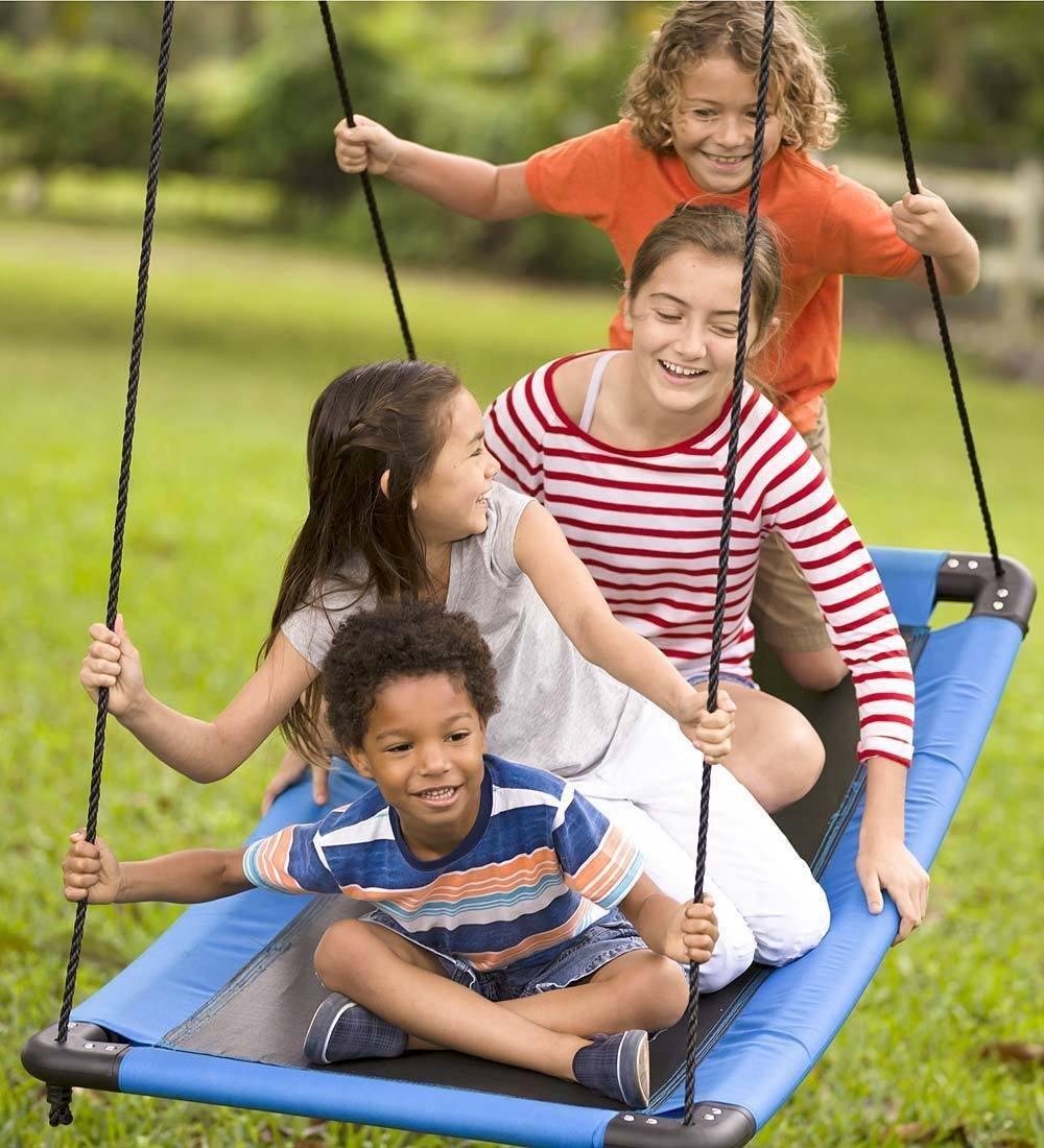 SkyCurve Hanging Platform Rope Tree Swing for Multiple Children