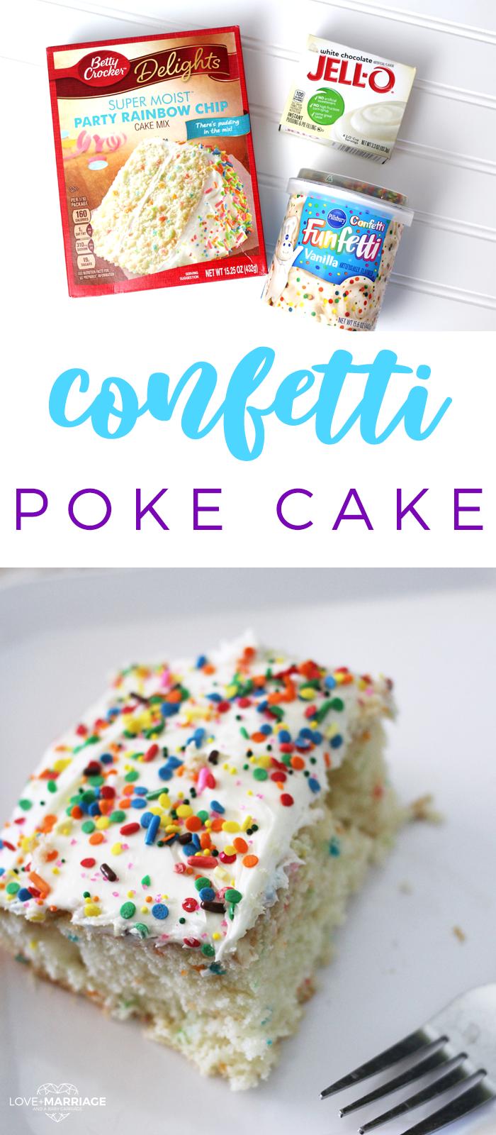 funfetti poke cake