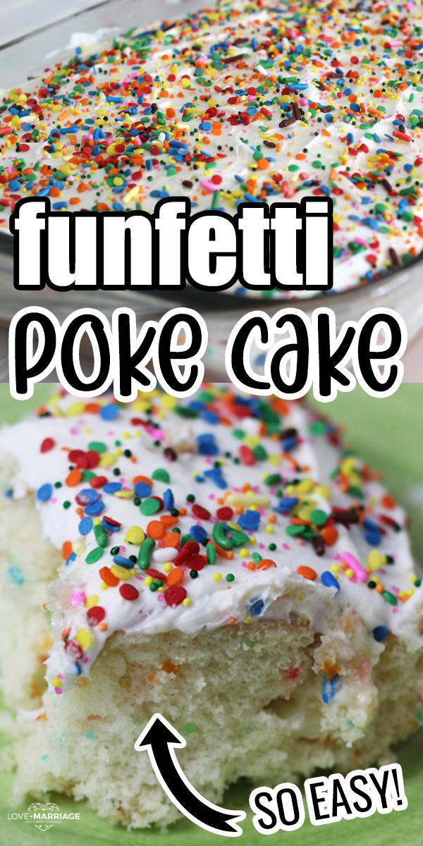 FUNFETTI POKE CAKE recipe