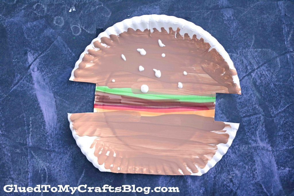 Hamburger Paperplate Craft