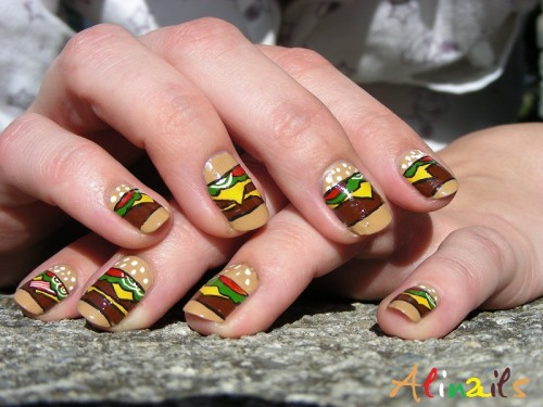 Hamburger Nails