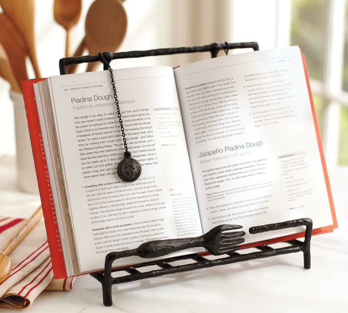 Pretty Farmhouse Style Kitchen Cook Book Holder
