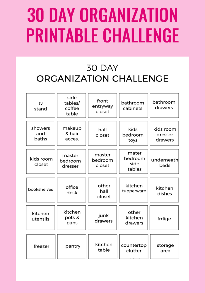 picture relating to 30 Day Challenge Printable referred to as 30 Working day Company Issue - Get pleasure from and Connection