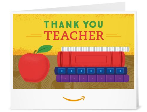 Amazon Gift Card for Teacher
