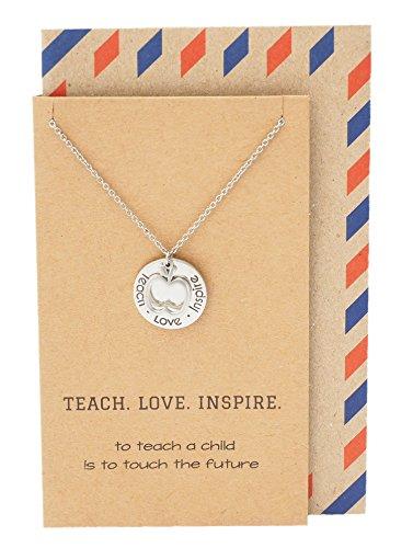 Teach Love Inspire Teacher Necklace