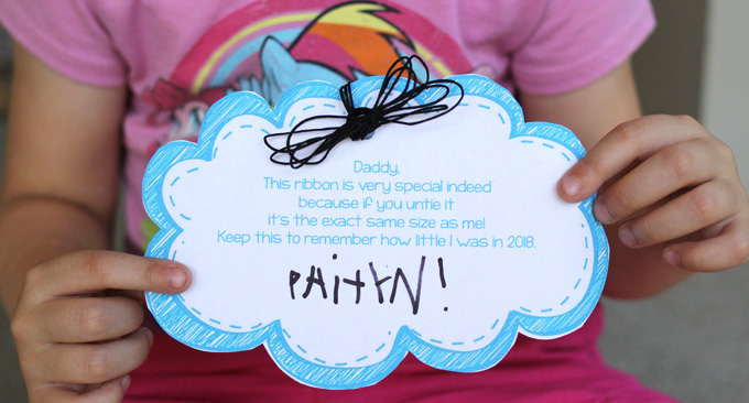 Sweet Memory Printable for Father's Day