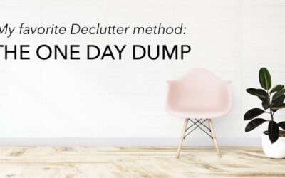 Declutter with the One Day Dump method