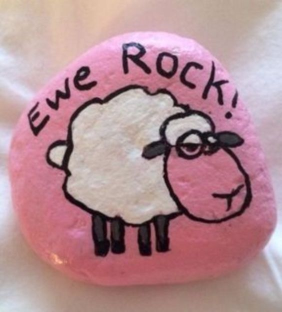 Sheep Painted Rocks