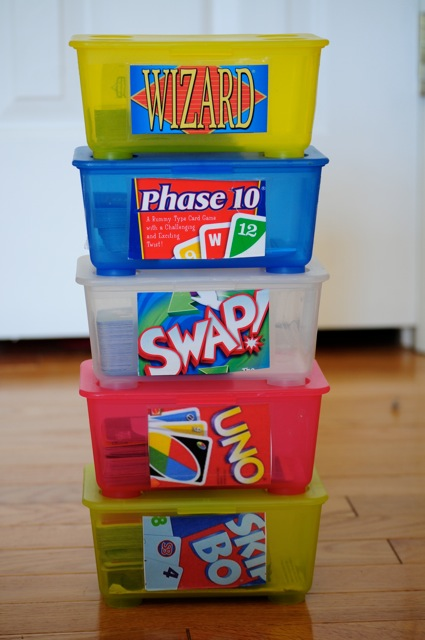 Store your card games in empty baby wipes containers. 18 Clever Baby Wipe Container Hacks