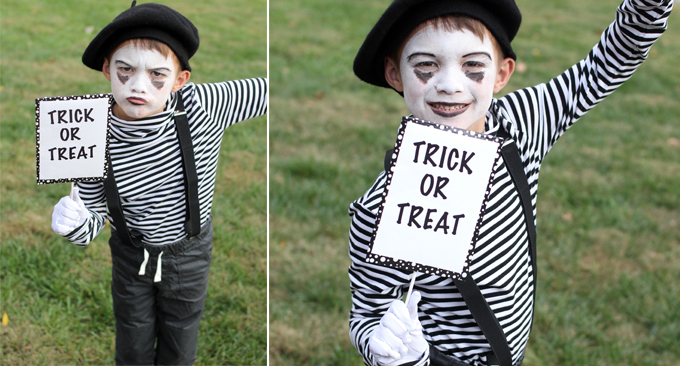 Adorably Easy Mime Costume