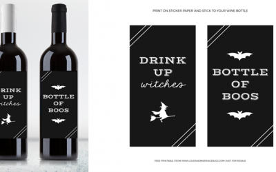 Free Halloween Wine Labels